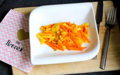 Kartoffel-Kürbis-Pfanne mit Knoblauch Wuerze