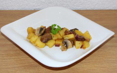 Pellkartoffel Pilz Pfanne