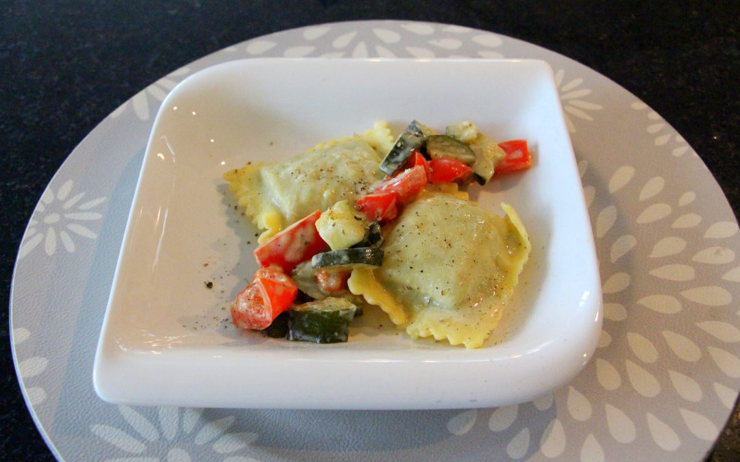 Maultaschenpfanne mit Gemüse
